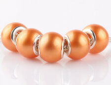 NEW 5pcs silver pearl golden spacer beads fit Charm European Bracelet DIY AB924