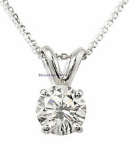 3.09 ct D SI3 round natural diamond solitaire pendant 14k white gold rabbit ears