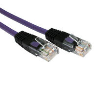 PURPLE 5m Crossover Cat5E RJ45 Network Cable Connects Laptop to Games Console