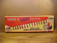"Vintage ""NOMA"" Berry Bead Christmas 15 Light C-7 Set No. 3415 w GE Ceramic Bulbs"