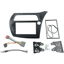 Double Din Stereo Facia For Honda Civic Adaptor Fascia With ISO Wiring Aerial