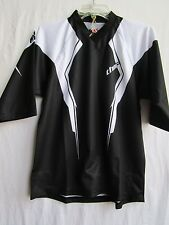 THOR Static motocross BMX  jersey youth  LARGE  3/4 sleeves  blk/wht