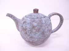 ANTIQUE JAPANESE CERAMICS / VINTAGE TEAPOT / BLUE COLOR GLAZE / GORGEOUS / LARGE