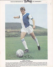 Keith Newton, Blackburn Rovers FC, vintage 1960's Typhoo Tea card.