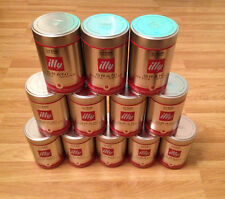 10 x EMPTY ILLY COFFEE BEANS GRAINS GRANI TIN CANS CONTAINER STORAGE DISPLAY