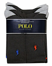 Polo Ralph Lauren Technical Black Crew Sport Socks 6-Pack UK 9-12 Mens