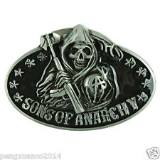 Senmi Vintage Sons of Anarchy Skull Belt Buckle Classic Western Death Reaper New