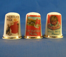 Birchcroft Thimbles -- Set of Three - Vintage Advertising Posters - Milk
