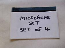 AUSTIN MORRIS VANDEN PLAS WOLSELEY MG 1100 1300 MICROFICHE SET OF 4 (D207)