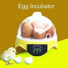 Digital Chicken Duck Bird Egg Hatch Mini Incubator 7 Egg Capacity Hatcher Tool