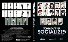 TONI&GUY SOCIALIZED  EDUCATION COLLECTION 2015-2016 3 DVDs SET