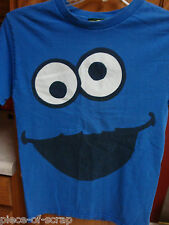 COOKIE MONSTER Character Face Tee Shirt SMALL S T-Shirt T Sesame Street Costume