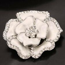 Rhinestone Crystal Wedding Bridal Bouquet Silver Flower Brooch Pin Brooches New
