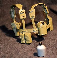 "☆ Vintage Action Man ☆ Green Army Webbing Complete For 12"" Figures c1970's ☆"