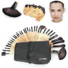32Pcs Pro Excellent Vander Cosmetic LB Makeup Brush Set Kit + Pouch Bag