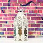 Metal Glass Hollow Hanging Table Light Candle Holder Wedding House Lantern Decor