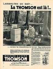PUBLICITE ADVERTISING 014   1957   THOMSON   machine à laver lave linge