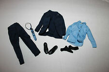 "1/6 Scale blue suit  for 11"" or 12"" action figure 1/6th scale tie shoes black"