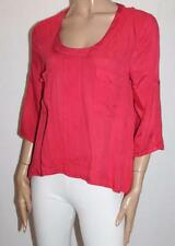 VALLEYGIRL Brand Red Cut Out Back 3/4 Sleeve Blouse Top Size 12-M BNWT #TC120