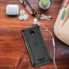 POETIC Affinity Shockproof Bumper Case for Moto Z / Moto Z Droid Case Black NEW