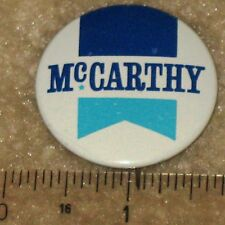 POLITICAL  MEMOROBILIA   MC CARTHY FOR SENATOR 1960 PIN BACK BUTTON