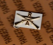 """US ARMY A Co R Infantry Regiment Officer Hat  2.25"""" Branch badge single"""