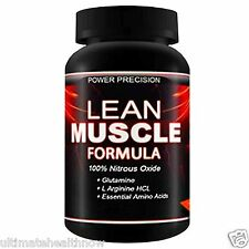 Power Precision LEAN MUSCLE FORMULA Nitric Oxide Arginine Testosterone Fat Burn