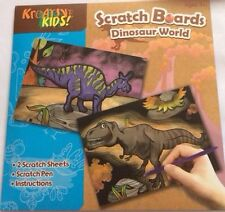Incisione Arte Scratch Art Foil Dinosauro mondo per bambini Art & Craft Scratch Board