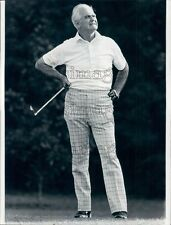 1978 General William Westmoreland Playing Golf in Charleston Press Photo