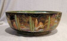 "Wedgwood Fairyland Lustre Woodland Bridge 10 1/2"" Bowl with Mermaid Center"