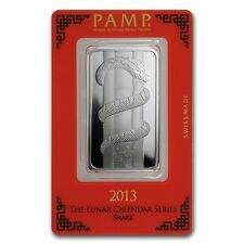 PAMP Suisse 2013 The Lunar Calendar Series Snake 1 oz Silver Bar (in Assay)