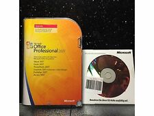 Microsoft Office Professional 2007, retail, tedesco, versione completa opz, used