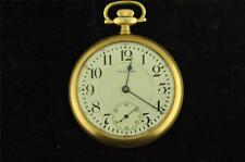 VINTAGE 16 SIZE WALTHAM 23J VANGUARD POCKET WATCH FROM 1915 KEEPING TIME