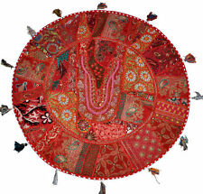 "17"" Red Large Round Floor Pillow Meditation Cushion religious Buddha Yoga pillow"
