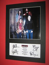 LED ZEPPELIN A4 PHOTO MOUNT SIGNED REPRINT AUTOGRAPHS ROBERT PLANT JIMMY PAGE