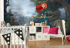 Gigante Papel Pintado 368x254cm Princesa Merida Disney Mural de Pared para Cuarto de Niños