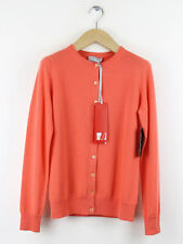 BNWT Pure Collection Womens Hot Coral Cashmere Knitted Cardigan Size 10