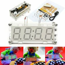 DIY 0.8 Inch Digital Tube LED Electronic Clock Kit Red Blue Green LED