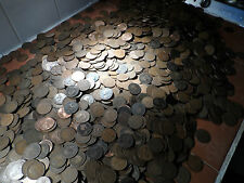 100 british Pennies coins From 1895  to 1960s 100 coins in this bulk lot