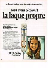PUBLICITE  1971   SET DE PANTENE   laque propre