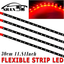 4x New Waterproof Red 30cm /15 LED Car Truck Motorcycle Flexible Strip Light 12V