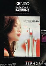 Publicité advertising 2014 Parfum Flower by Kenzo chez Sephora