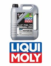 Acura Honda Liqui Moly 0w-20 AA Fully Synthetic SN/GF5 Engine Motor Oil 5 Liters