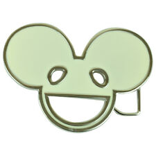 Deadmau5 Glow In The Dark Enameled Metal Belt Buckle House Music DJ Rave EDM