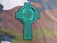 ECUSSON PATCH THERMOCOLLANT toppa aufnaher CROIX VERTE celtique ireland musique