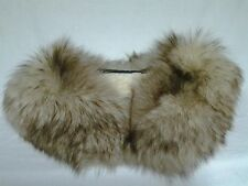 FOX FUR COLAR WHITE AND BROWN FOR COATS OR SWEATHERS
