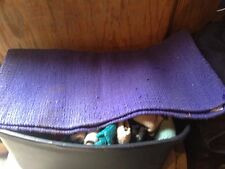 Used Mayatex Saddle Show Pad Blanket Purple