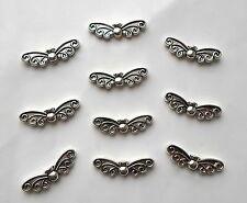 20 x Antique Tibetan Silver Fairy Angel Wings Charm Beads 22mm x 6mm CH7