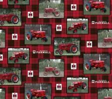 Farmall Tractor Patch Cotton Fabric