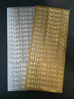 Two Sheets Peel Offs Father's Day Gold Silver